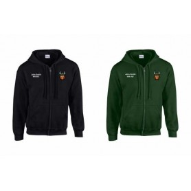 Edge Hill Vikings - Embroidered Zip Hoodie