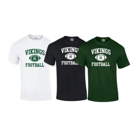 Edge Hill Vikings - Custom Ball Logo T-Shirt 1
