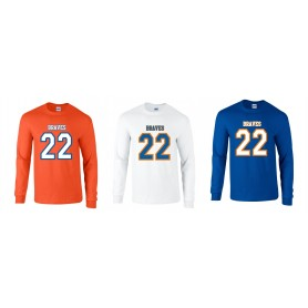 Derby Braves - Numbers Long Sleeve T-Shirt