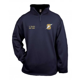 Swindon Storm - Embroidered Badger 1/4 Zip Poly Fleece Pullover