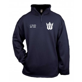 Worcester Royals - Embroidered Badger 1/4 Zip Poly Fleece Pullover