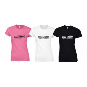 Peak Fitness - Slanted Logo Women's Fit T Shirt