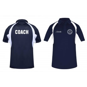 Peak Fitness - Custom Coach's Embroidered Hook Polo Shirt