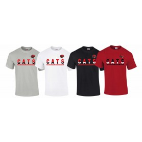 Cambridge Cats - Athletic Split Text Logo T-Shirt
