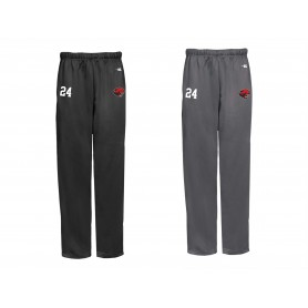 Cambridge Cats - Embroidered Badger Open Bottom Joggers