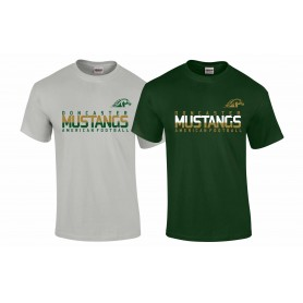 Doncaster Mustangs - Athletic Split Text Logo T-Shirt