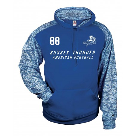 Sussex Thunder - Printed Sports Blend Football Logo Hoodie