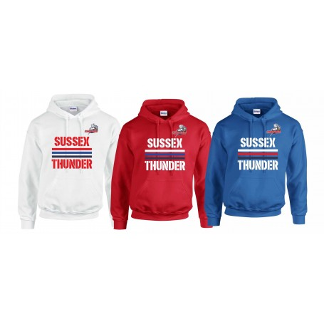 Sussex Thunder - Stripes Logo Hoodie