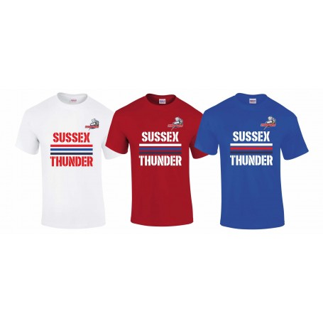 Sussex Thunder - Stripes Logo T-Shirt