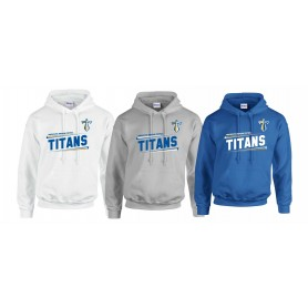 Manchester Titans - Slanted Text Logo Hoodie