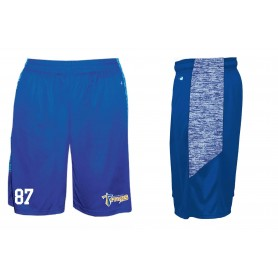 Manchester Titans - Embroidered Blend Panel Pocketed Shorts