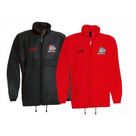 City Wolfpack - Custom Lightweight College Rain Jacket
