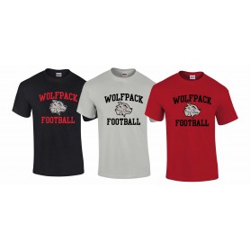City Wolfpack - Football Logo T-Shirt