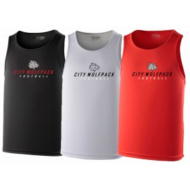 City Wolfpack - Text Logo Performance Vest