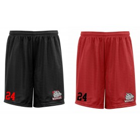 City Wolfpack - Custom Embroidered Mesh Shorts