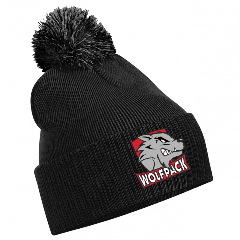 abbee204dc4 City Wolfpack - Embroidered Bobble Hat