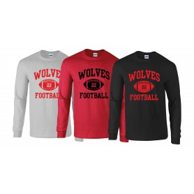 Warwick Wolves - Custom Ball 1 Logo Long Sleeve T Shirt