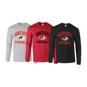 Warwick Wolves - Wolves Football Logo Long Sleeve T Shirt