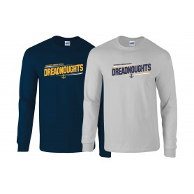 Portsmouth Dreadnoughts  - Slanted Text Long Sleeve T Shirt