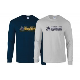 Portsmouth Dreadnoughts - Text Logo 2 Long Sleeve T Shirt