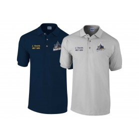 Portsmouth Dreadnoughts - Custom Embroidered Ship Logo Polo Shirt