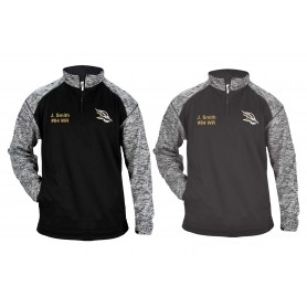 Clyde Valley Blackhawks - Embroidered Tonal Blend Sport Quarter Zip