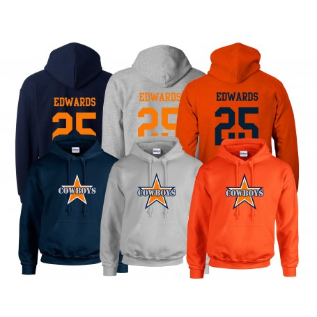 Craigavon Cowboys - Jersey Style and Logo Hoodie