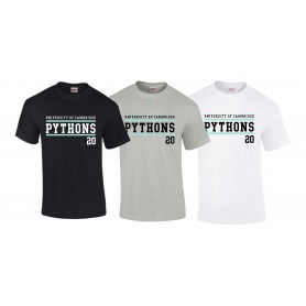 Cambridge Pythons - Customised Pythons Text T-Shirt