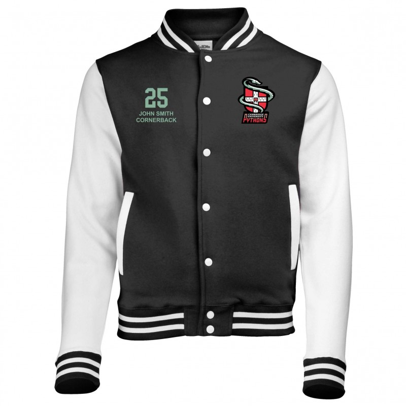 reputable site c6298 7b3a7 Cambridge Pythons - Embroidered Varsity Jacket