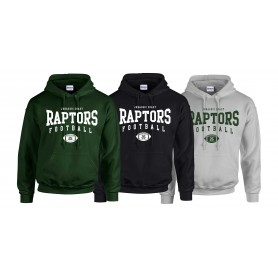 Jurassic Coast Raptors - Custom Ball Logo Hoodie 2