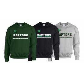 Jurassic Coast Raptors - Athletic Split Text Logo Sweatshirt