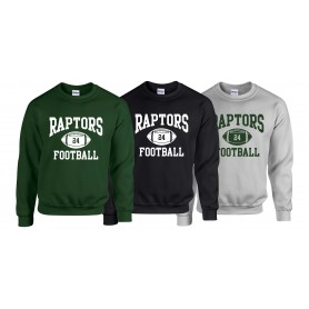 Jurassic Coast Raptors - Custom Ball  Logo 1 Sweatshirt