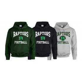 Jurassic Coast Raptors - FootBall Logo Hoodie