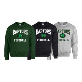 Jurassic Coast Raptors - Football Logo Sweatshirt