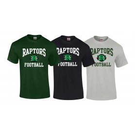 Jurassic Coast Raptors - Football Logo T Shirt