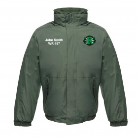 Jurassic Coast Raptors - Custom Embroidered Heavyweight Dover Rain Jacket