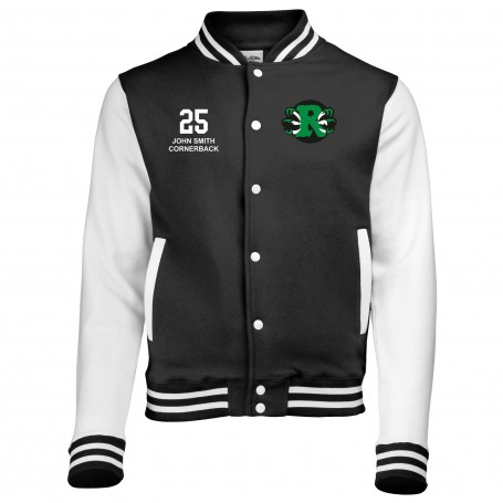 Jurassic Coast Raptors - Custom Embroidered Varsity Jacket