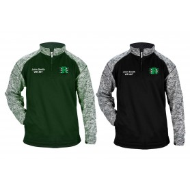 Jurassic Coast Raptors - Customised Embroidered Tonal Blend Sport 1/4 Zip